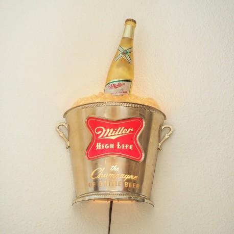 Aplique luminoso Cerveza Miller Vintage
