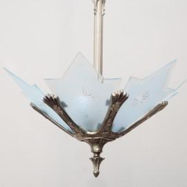 Lámpara Vintage Hierro y Cristal