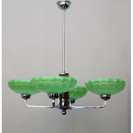 Lámpara Decó Cristal Jade