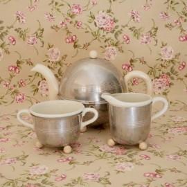 Juego de Té Plateado Vintage