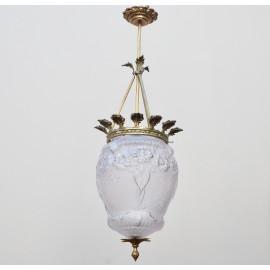 Lámpara Vintage Techo Cristal