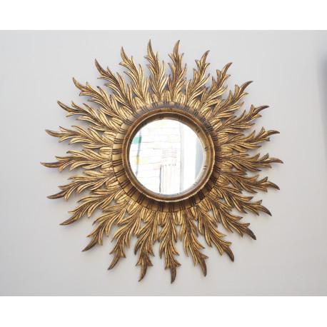 Espejo Sol Vintage Madera
